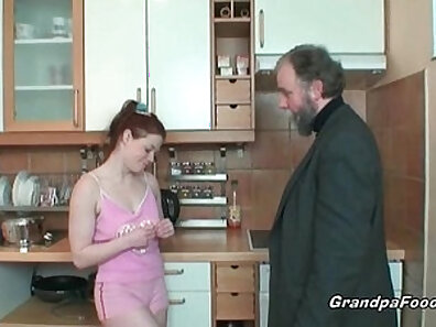Leggy housewife redhead secretary wakes up dude and acts so sexy